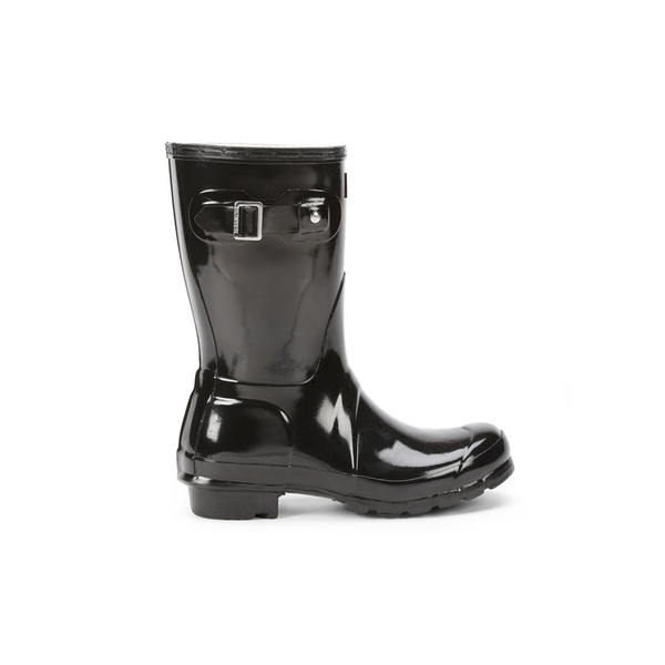 Hunter Women's Original Short Gloss Wellies - Black