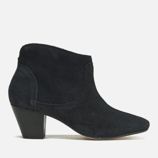 Hudson London Women's Kiver Suede Heeled Ankle Boots - Black