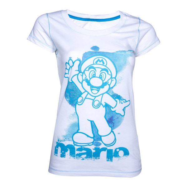 Mario - T-Shirt Women's (White/Blue)