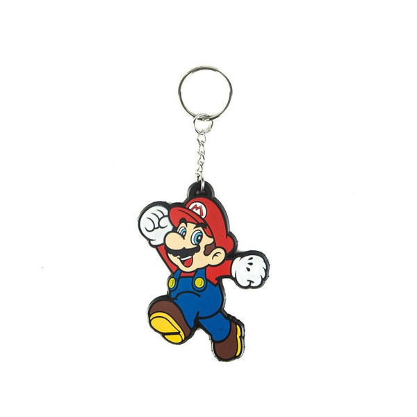 Jumping Mario - Rubber Keychain