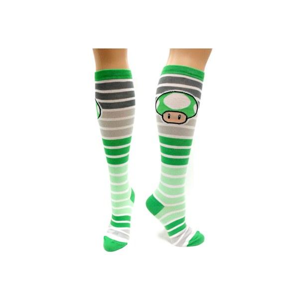 1-UP Mushroom (Striped) - Knee High Socks