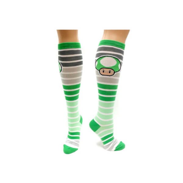 1-UP Mushroom (Striped) - Knee High Socks