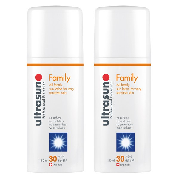 Duo Ultrasun Famille SPF 30 - Super Sensible (2 x 150 ml)