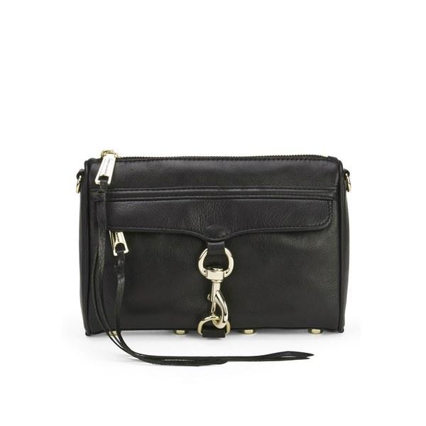 Rebecca Minkoff Women's Mini Mac Leather Cross Body Bag - Black with Gold Hardware