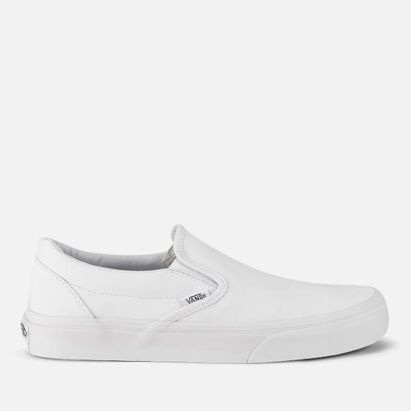 a8679e4137 Vans Classic Slip-On Canvas Trainers - True White