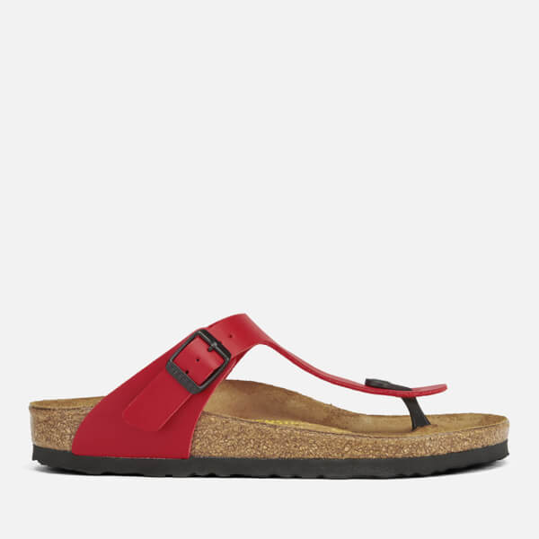 d3ace5f5e5a Birkenstock Women s Gizeh Toe-Post Leather Sandals - Cherry