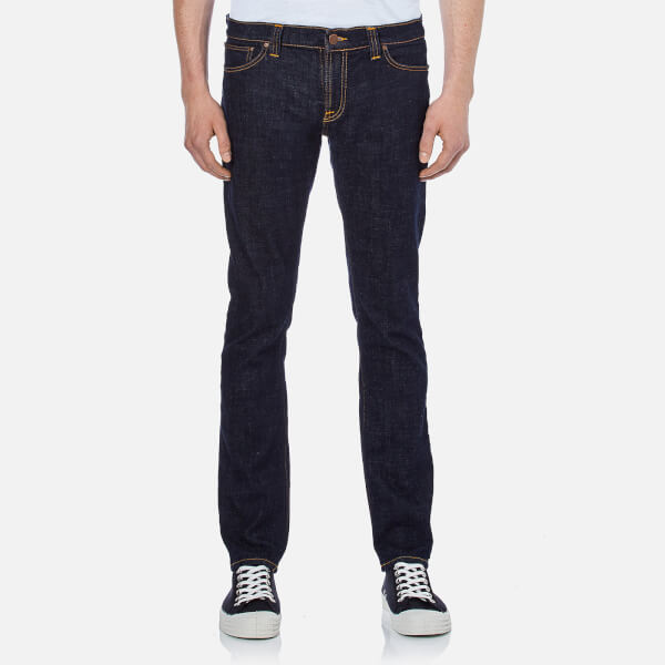 Nudie Jeans Men's Long John Skinny Jeans - Twill Rinsed