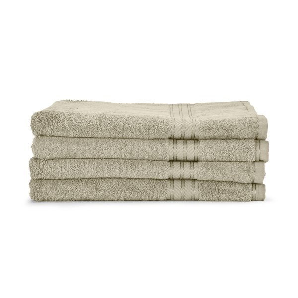 Restmor 100% Egyptian Cotton 4 Pack Bath Sheets (500gsm) - Latte