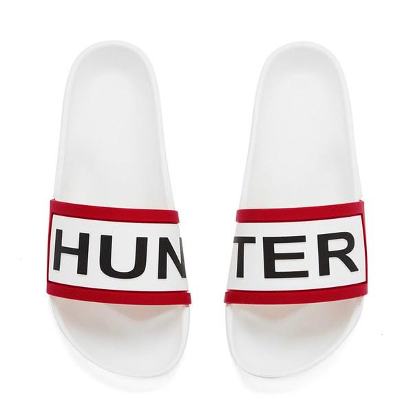 Hunter Women's Slide Sandals - White