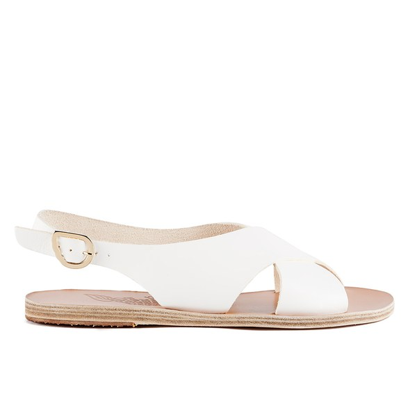 Ancient Greek Sandals Women's Maria Leather Sandals - White