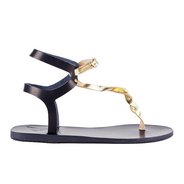 Ancient Greek Sandals Women's Ismene Leather Sandals - Marine/Platinum