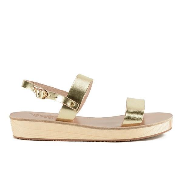Ancient Greek Sandals Women's Clio Platform Leather Sandals - Platinum