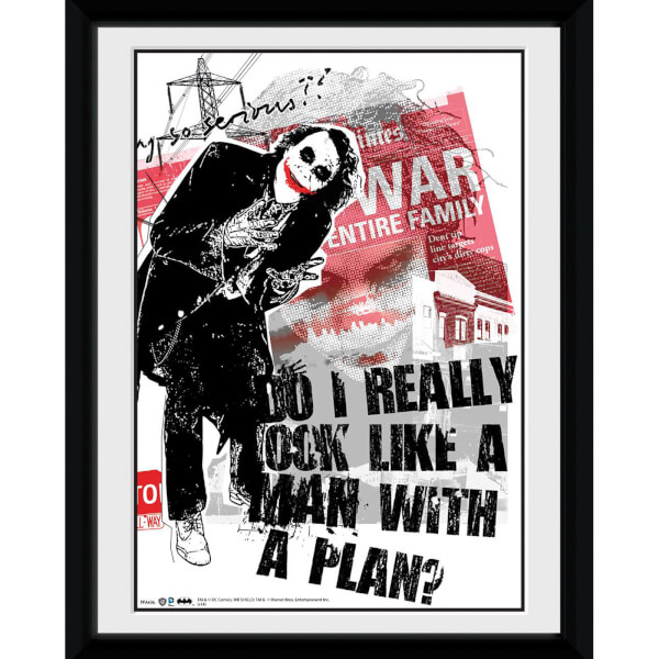 DC Comics Batman The Dark Knight Rises Man with a Plan - 8x6 Framed Photographic