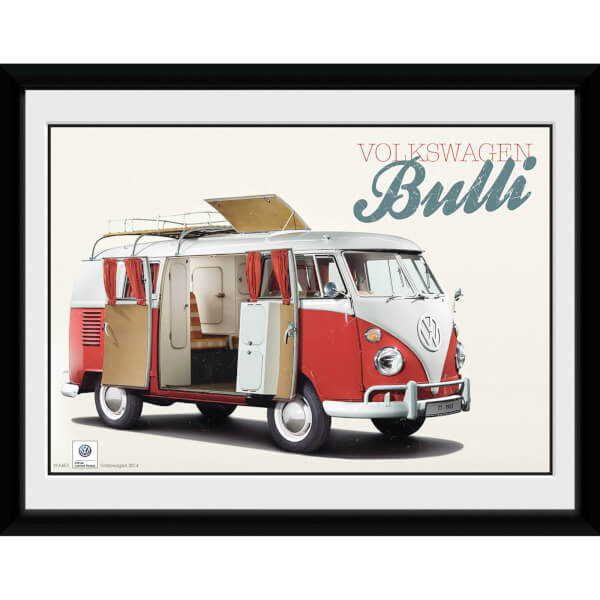 VW Camper Bulli - 8x6 Framed Photographic