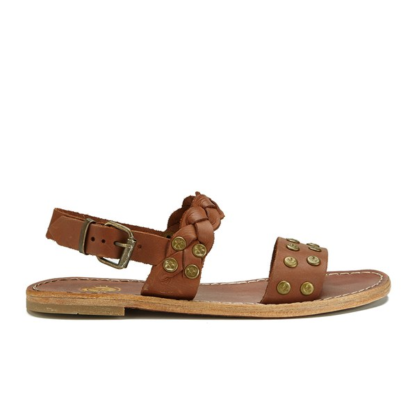 Womens flat leather sandals uk