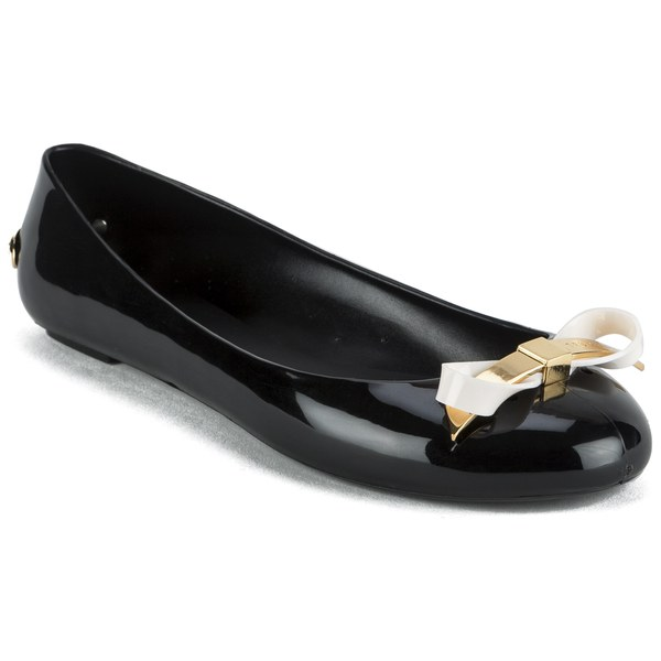 3ab4145d8 Ted Baker Women S Issan Bow Jelly Ballet Pumps Black Cream Free