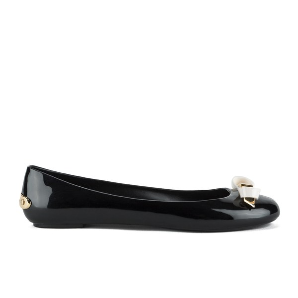 1765a20340413 Ted Baker Women s Issan Bow Jelly Ballet Pumps - Black Cream  Image 1