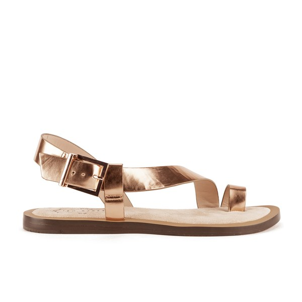 Ted Baker Women's Prendie Toe Post Leather Sandals - Orange/Light Pink