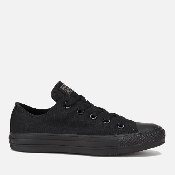 d95eb064ebf Converse Chuck Taylor All Star Ox Canvas Trainers - Black Monochrome  Image  1