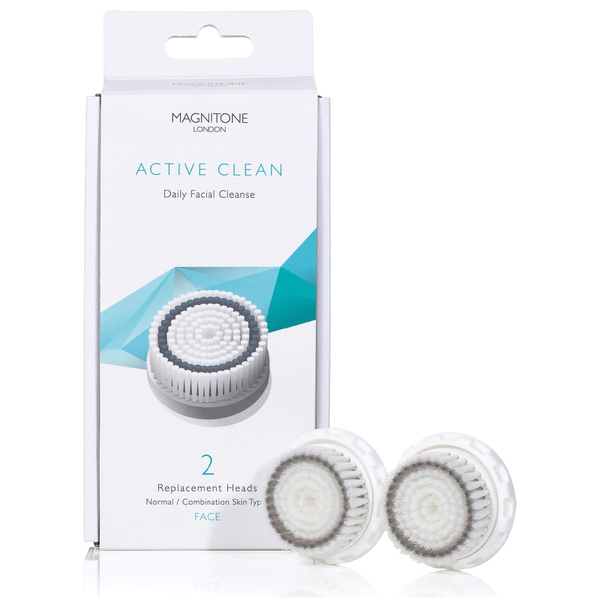 Magnitone London Active Clean Brush with Skin Kind Bristles (Set of 2)