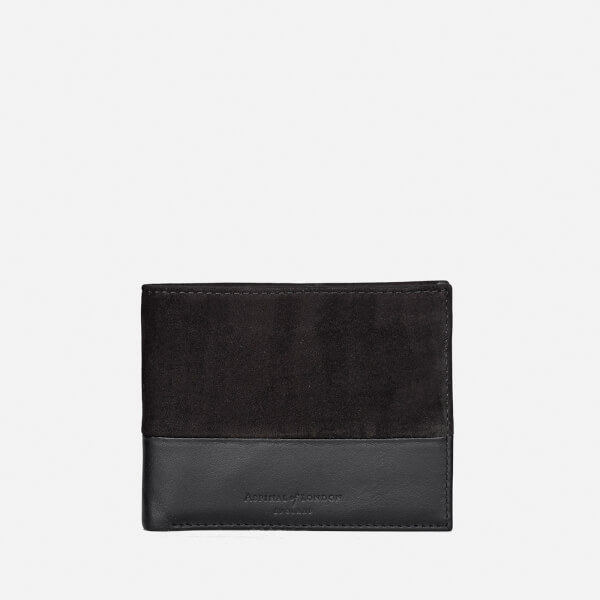 Aspinal of London Men's Shadow Billfold Wallet - Black