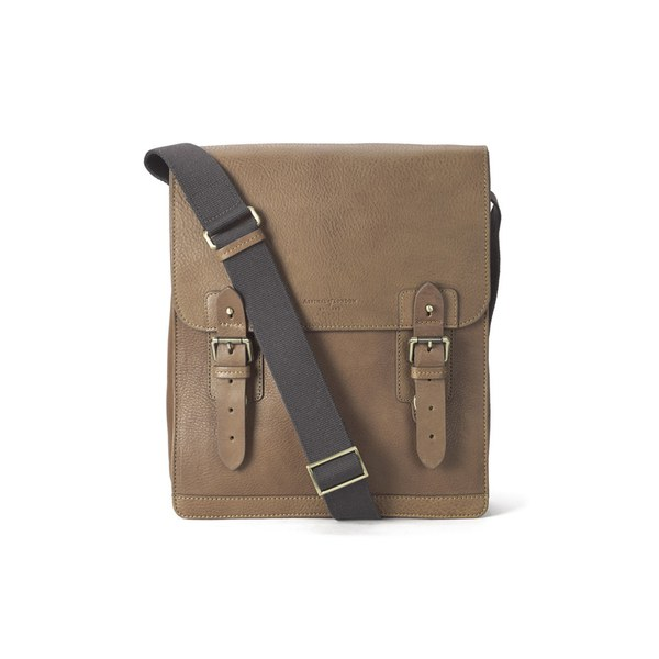 Aspinal of London Men's Small Shadow Messenger Bag - Tan - Free UK ...