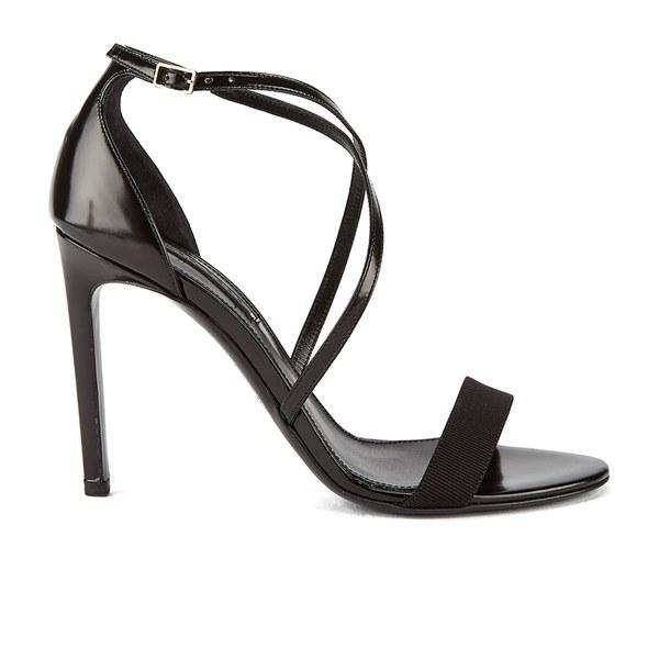 BOSS Hugo Boss Women's Tahara-A Grosgrain Barely There Heeled Sandals - Black
