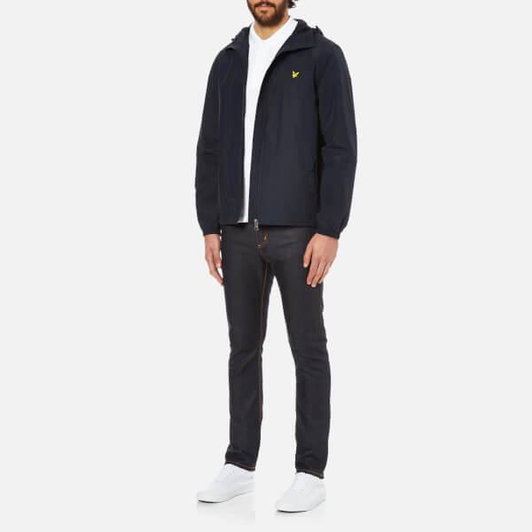 Lyle & Scott Vintage Men's Zip Through Hooded Jacket - New Navy: Image 4
