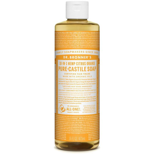 Dr. Bronner Organic Citrus Castile Liquid Soap (473ml)