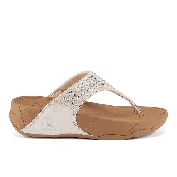 657920688c526 FitFlop Women s Novy Suede Toe Post Sandals - Nude  Image 1