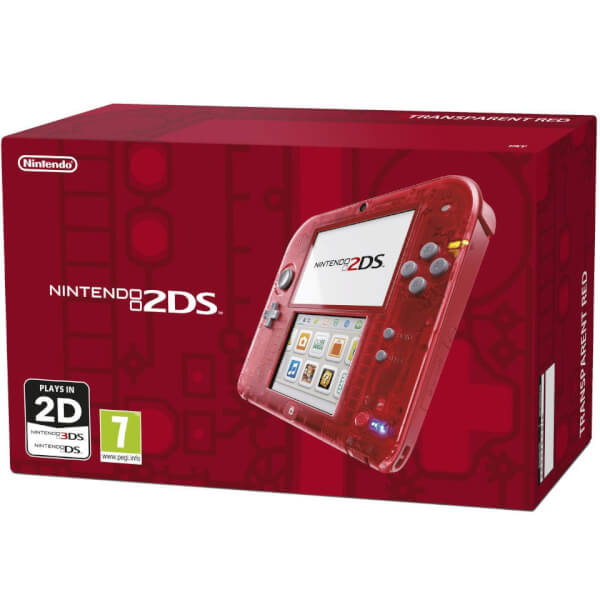 Nintendo 2DS Transparent Red