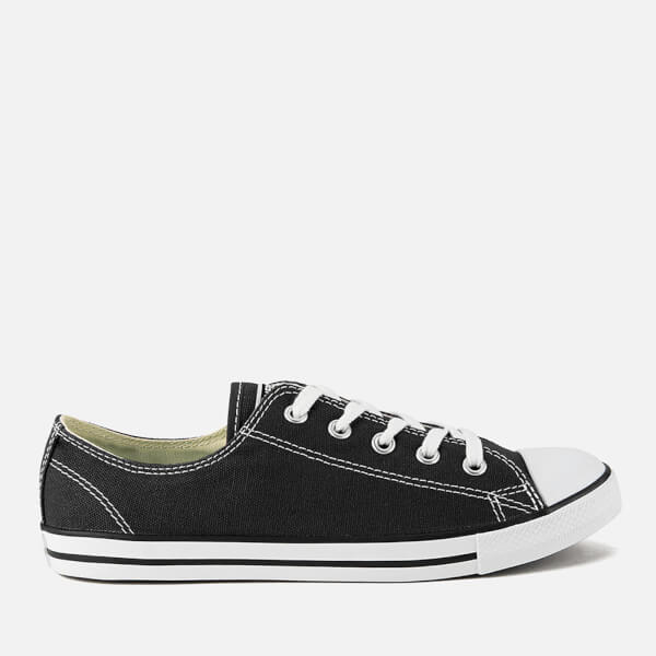 30a28503f7c Converse Women s Chuck Taylor All Star Dainty OX Trainers - Black  Image 1