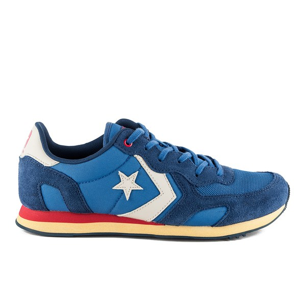 Converse CONS Men\u0027s Auckland Racer Washed Canvas Trainers - Ocean/Navy:  Image 1