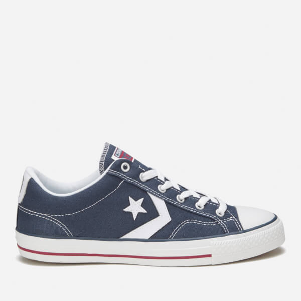 Converse Men's Cons Star Player Canvas Trainers - Navy/White: Image 1