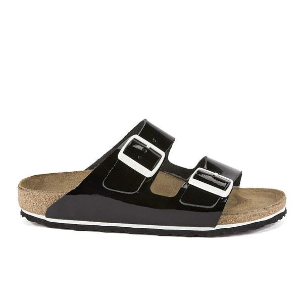 Womens Arizona Patent Leather Double-Buckle Sandals Birkenstock DCykB