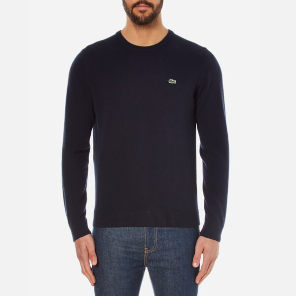Lacoste Men's Round Neck Jumper - Navy