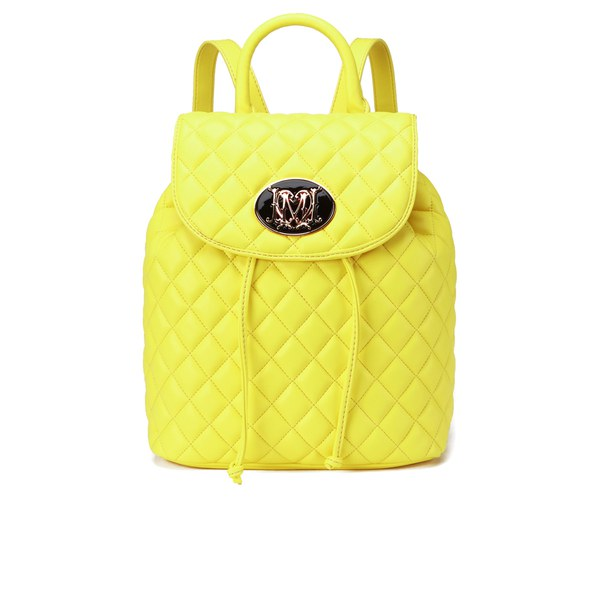 Love Moschino Women's Quilted Backpack - Yellow