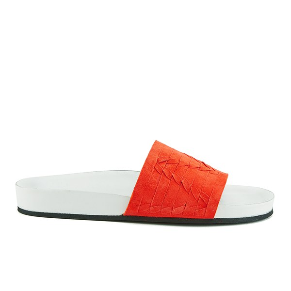 Thakoon Addition Women's Carly 01 Suede Slide Sandals - Poppy