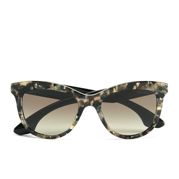 Miu Miu Crystal Rock Women's Sunglasses - White Havana Marble