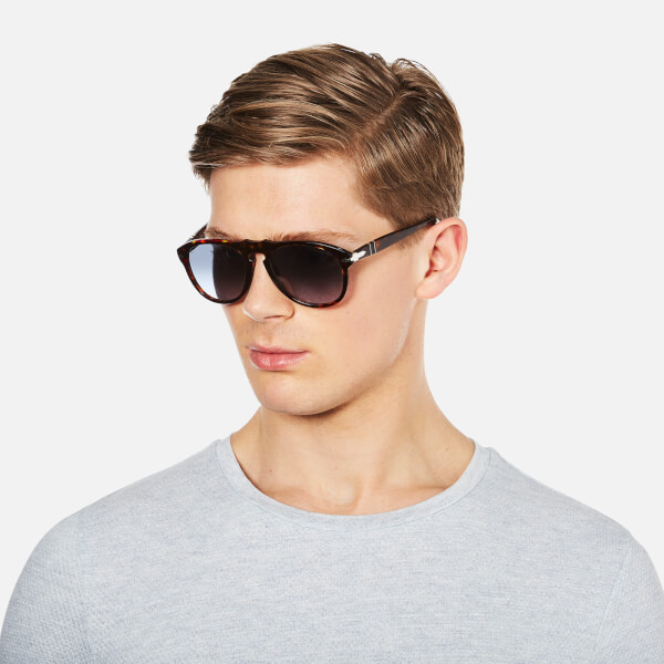 d4a2edc01c8 Persol D-Frame Men s Sunglasses - Havana with Sky Lenses Clothing ...