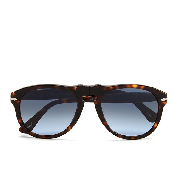 Persol D-Frame Men's Sunglasses - Havana with Sky Lenses