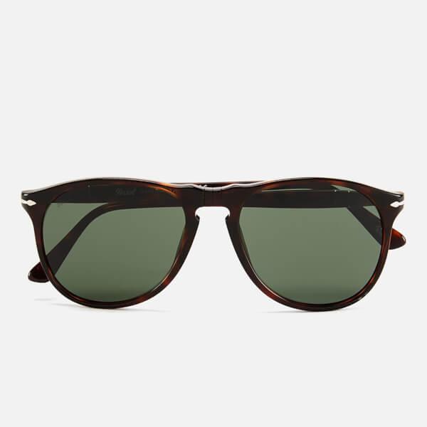 Persol Thin D-Frame Men's Sunglasses - Havana