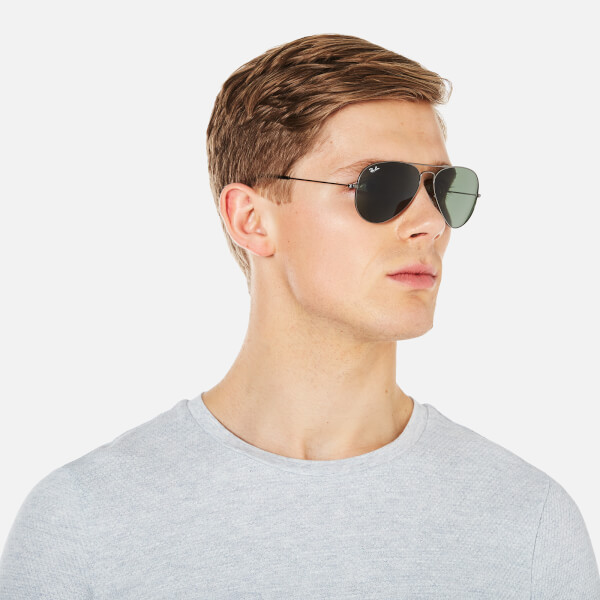 23e14dec2a Ray-Ban Aviator Large Metal Sunglasses - Gunmetal - 58mm  Image 2