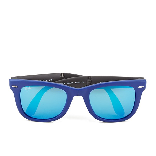 a23ee1871a Ray-Ban Folding Wayfarer Sunglasses - Matte Blue - 50mm Clothing ...