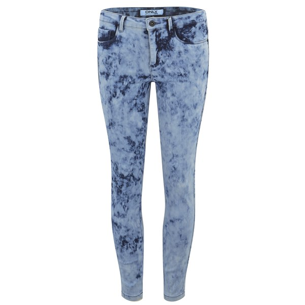ONLY Women's Royal Acid Wash Skinny Jeans - Denim
