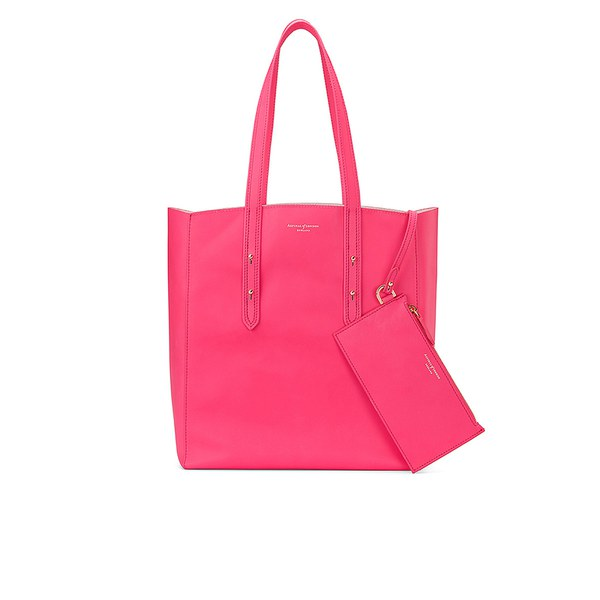Aspinal of London Essential Tote Bag - Smooth Neon Pink