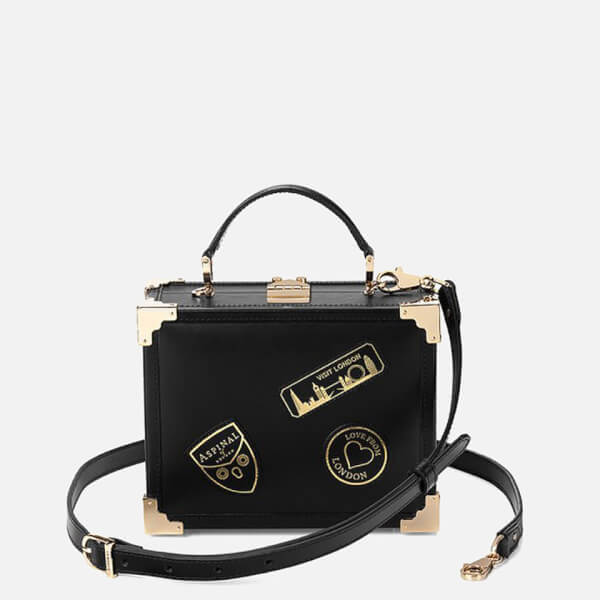 Aspinal of London Women's Mini Trunk Bag - Black