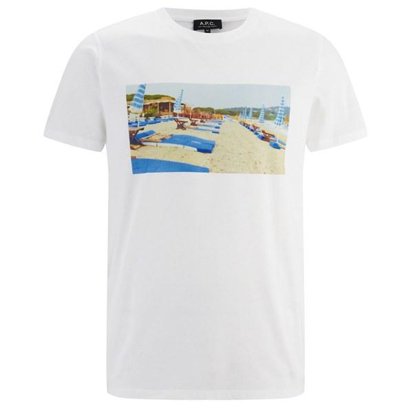 A P C Men S Beach T Shirt White Image 1