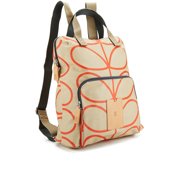 22756a8c887d Etc by Orla Kiely Women s Giant Linear Stem Backpack - Stone  Image 2