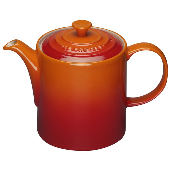 le creuset stoneware grand teapot 1 3l volcanic free uk delivery over 50. Black Bedroom Furniture Sets. Home Design Ideas